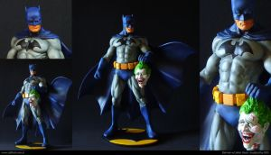 Batman and Joker head by ddgcom