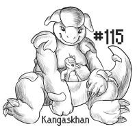 PKMN-A-DAY: Kangaskhan by the-b3ing