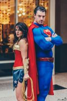 Superman and Wonder Woman by Crazy-J19