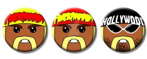 Hulk Hogan Buttons by Mutant-Cactus
