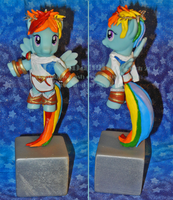 Rainbow Dash as Kid Icarus Pit cosplay by Bearded-Brony