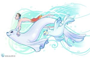 Justin's Water Pokemon - Dewgong and Seel by mmishee
