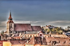 Brasov Cathedral and The Fortress (Cetatuia) by Zamolxes