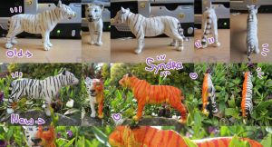 Schleich Tiger (female) - Repaint Commission by PoonieFox