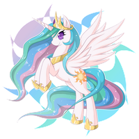 Princess Celestia by zaiyaki