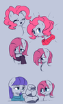 Pink Sketches by JoyfulInsanity