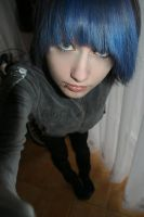 blue hair by Shiroi-JRock-XD