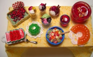 Miniature Summer Table - 3 by miniacquoline