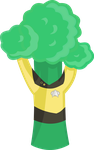 Lieutenant Commander Broccoli by ContntlBreakfst