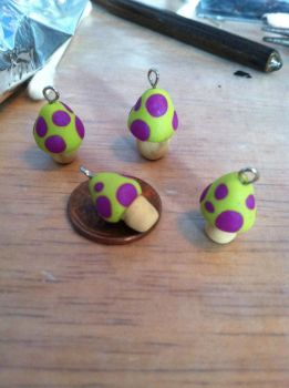 League of Legends - Teemo Shroom Charms by DarkPony967