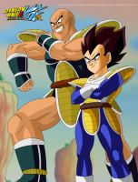 Nappa And Vegeta by kingvegito