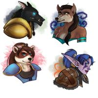 [commission] wow busts 8 by SirMeo