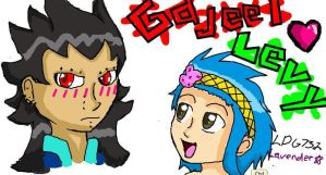 iScribble Collab: GajeelXLevy by Lavender-Star