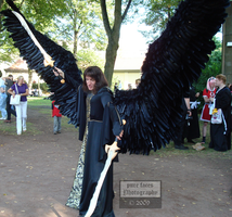 Big Black Wings Cosplay by pure-faces