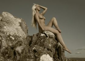 Naked on top of the mountian by BikeBoyPunk