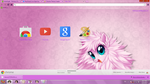 Fluffle puff google chrome theme by BARELA
