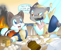Commission: Cooking Lessons with the Lieutenant by SmilehKitteh