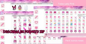 Pack de iconos rosa  .zip by TutosLadyPink