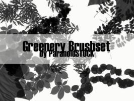 Greenery Brushset by paranoidstock