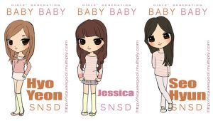snsd babybaby chibis -part one by squeegool