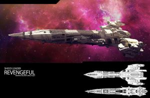 Concept Military Fleet Shock Leader REVENGEFUL by HPashkov