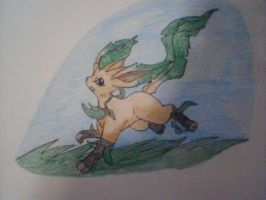 Gothic Leafeon by x-Vodkaa