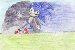 Sonic been sliding by SweetSilvy