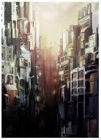 CITY  Speedpaint by nachoyague