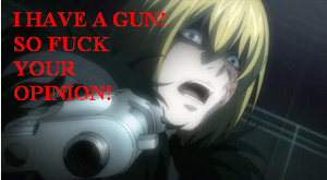 Mello has a gun by Daiskida