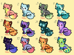10 point kittens 3 by RubyAdopts