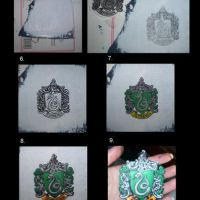 Patch Making_Slytherin Crest by DeltaVT