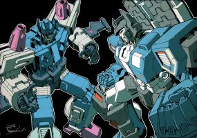 Kotteri's Overlord vs Fortress Maximus Colored by Ultimatetransfan