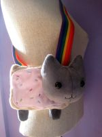 Nyancat plush bag by FollyLolly
