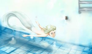 Mermaid in Swimming Pool by caylren