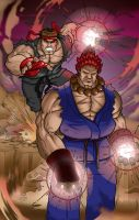 Evil Ryu Vs. Akuma - Final by sergio-borges