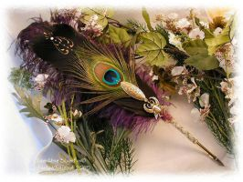 WINGED SCARAB Feather Pen A by ChaeyAhne