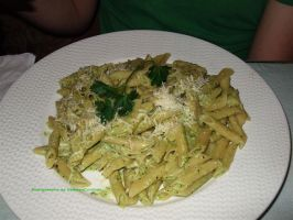 Penne with Pesto. by GermanCityGirl