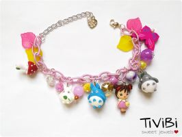 Little Mei and Totoro - Charm bracelet by tivibi