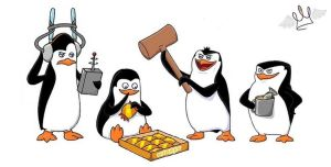 penguins of madagascar... by chicajamonXD
