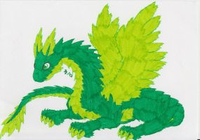 Dragon of the Wind Element by Saja-san