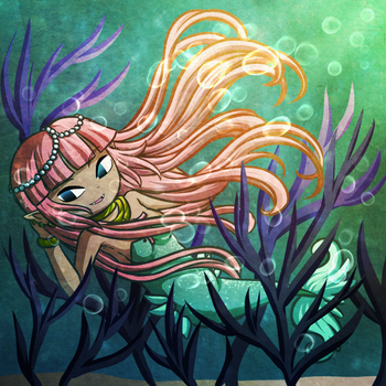 Luscious Locks of Coral by Icy-Snowflakes