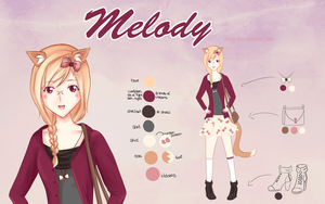Melody - Reference Sheet by cloudylicious