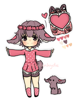 CLOSED:Heart Bunny Auction by DoodinHyde