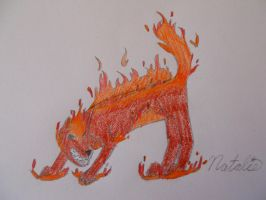 Element Fire Wolf by AwesomeDangerWolf
