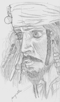 Pirates of the Caribbean: Captain Jack Sparrow by Roxyielle