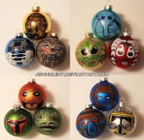 Star Wars Ornaments by jsundmint by JsunDmint