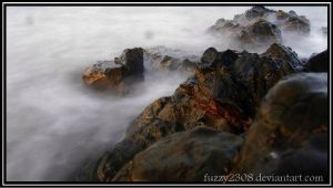 ocean and rocks by fuzzy2308