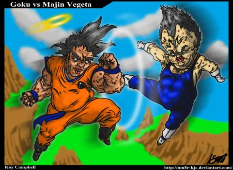 Dragon Ball Goku VS Vegita by Koy Campbell PERFECT by NM8R-KJC