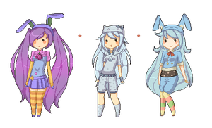 Pixel Girls by tiriii