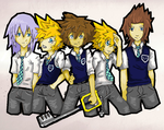 Keyblade gang Complete by FeedTheBirds